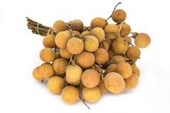 Fruit de Longan sur le blanc Image stock