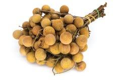 Fruit de Longan sur le blanc Photos stock