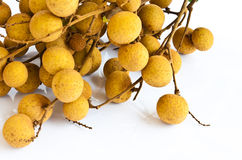 Fruit de Longan sur le fond blanc images stock