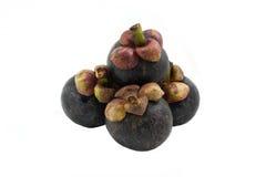 Fruit de mangoustan sur le fond blanc Photo stock