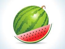 Fruit de melon d'eau avec la part Photos libres de droits
