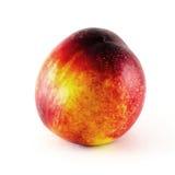 Fruit de nectarine d'isolement sur le fond blanc Photo stock