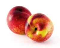 Fruit de nectarine d'isolement sur le fond blanc Photographie stock