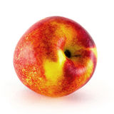 Fruit de nectarine d'isolement sur le fond blanc Photo libre de droits