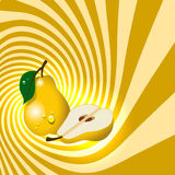Fruit de poire avec des baisses de l'eau Photo libre de droits
