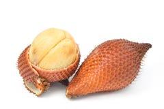 Fruit de Salak d'isolement sur le fond blanc Images stock