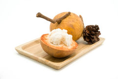Fruit de Santol d'isolement sur le fond blanc images libres de droits