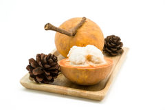 Fruit de Santol d'isolement sur le fond blanc photographie stock