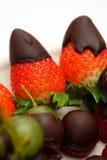 Fruit de Straberry avec l'écrimage de chocolat image libre de droits