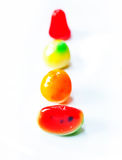 Fruit de sucreries sur le fond blanc photo libre de droits