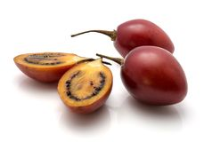 Fruit de tamarillo d'isolement Images libres de droits