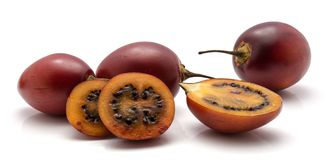 Fruit de tamarillo d'isolement Photographie stock