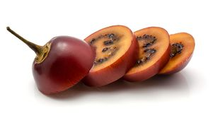 Fruit de tamarillo d'isolement Images stock