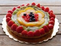 Fruit de tarte de gâteau décoré Photographie stock libre de droits