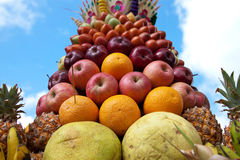 Fruit decoration in Bali Royalty Free Stock Images