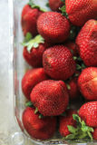 Fruit  delicious. Give me more and more strawberry Stock Photography