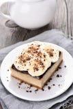 Fruit dessert banana cheese cake Royalty Free Stock Image
