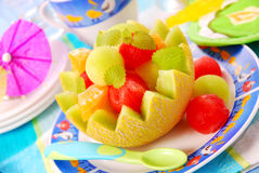 Fruit dessert for child royalty free stock images