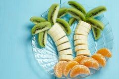Fruit dessert for child Stock Images