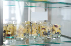 Fruit dessert in glass Royalty Free Stock Photography