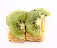 Fruit dessert of kiwi Royalty Free Stock Photo