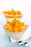 Fruit dessert with mango Stock Photo