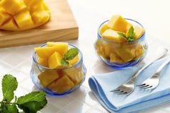 Fruit dessert with mango Royalty Free Stock Photos