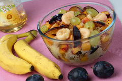 Fruit dessert mix Stock Photo