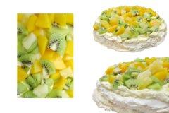 Fruit Dessert Pavlova Series Stock Photo