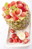 Fruit dessert with pineapple Royalty Free Stock Photography