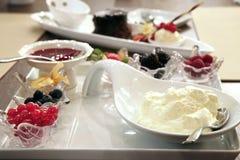 Fruit dessert platter Royalty Free Stock Image