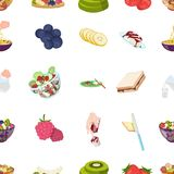 Fruit, dessert, sandwiches and other types of food. Food set collection icons in cartoon style vector symbol stock. Illustration Stock Photo