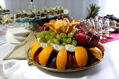 Fruit dessert on the table Royalty Free Stock Photography