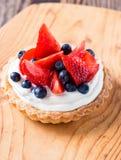 Fruit dessert tart royalty free stock photo
