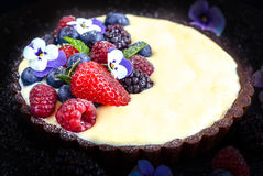 Fruit dessert tart Royalty Free Stock Images