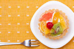 Fruit dessert tarts Royalty Free Stock Photos