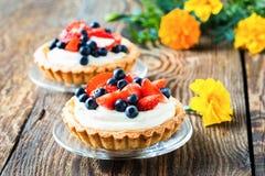 Fruit dessert tarts royalty free stock photos