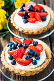 Fruit dessert tarts Royalty Free Stock Image