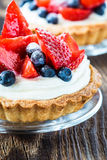 Fruit dessert tarts stock images