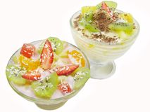 Fruit desserts Royalty Free Stock Photos