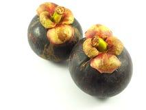 Fruit deux de mangoustan Images stock