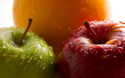 Fruit with dewdrops stock photography