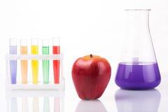 Fruit dichte chemische reageerbuizen genetisch Royalty-vrije Stock Fotografie