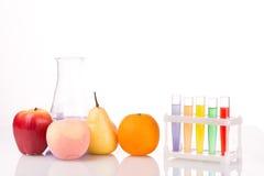 Fruit dichte chemische reageerbuizen genetisch Royalty-vrije Stock Afbeelding