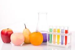 Fruit dichte chemische reageerbuizen genetisch Royalty-vrije Stock Foto
