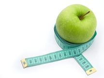 Fruit diet. Control of weight through proper nutrition Royalty Free Stock Images