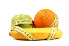 Fruit diet concept Royalty Free Stock Photography