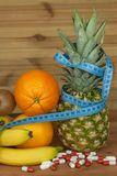 Fruit diet. The concept of healthy diet food. Diet for athletes. Royalty Free Stock Photo