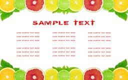The fruit dietary menu Stock Photo