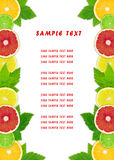 The fruit dietary menu Royalty Free Stock Images